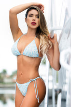 Load image into Gallery viewer, Diany Baby Blue White Spandex Bikini Swimwear - Beachwear - BACCIO Couture