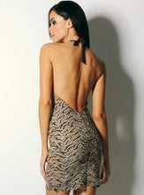 Load image into Gallery viewer, Diva Stretch Lace Brown Cocktail Dress - Short Dress - BACCIO Couture