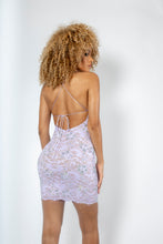 Load image into Gallery viewer, Naylet Full Crystal Lilac Cocktail Dress - BACCIO Couture