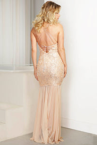 Karen Cream Handpainted Caviar Gowns - Long Dress - BACCIO Couture