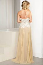 Load image into Gallery viewer, Iris Hand-painted White Cream Caviar Long Dress - BACCIO Couture