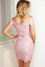 Load image into Gallery viewer, Vivi Pink Caviar Short Dress - Cocktail Dress - BACCIO Couture