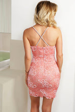 Load image into Gallery viewer, Karla Pink Caviar Cocktail Dress - Short Dress - BACCIO Couture