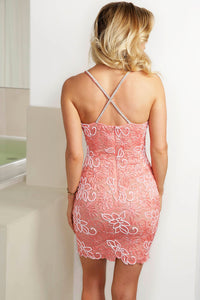 Karla Pink Caviar Cocktail Dress - Short Dress - BACCIO Couture
