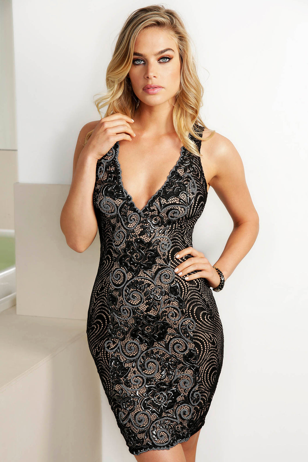 Emy Black Caviar Cocktail Dress - Short Dress - BACCIO Couture