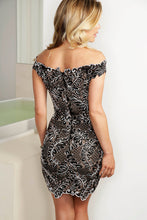 Load image into Gallery viewer, Vivi Black Caviar Short Dress - Cocktail Dress - BACCIO Couture