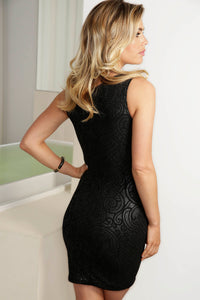 Tania Black Caviar Short Dress - Cocktail Dress - BACCIO Couture