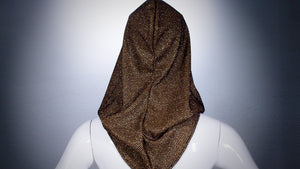 Gold Mesh Hoodie Head Cover Washable and Reusable - BACCIO Couture
