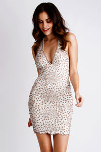 Grace White Cocktail Dress - Short Dress - BACCIO Couture