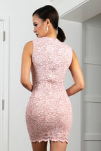 Load image into Gallery viewer, Helly Rose Stretch Lace Short Cocktail Dress - BACCIO Couture