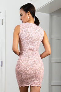 Helly Rose Stretch Lace Short Cocktail Dress - BACCIO Couture
