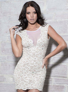 Ines White Short Cocktail Dress - BACCIO Couture