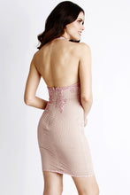 Load image into Gallery viewer, Ivonne Pink Caviar Short Cocktail Dress - BACCIO Couture