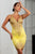 Jady Stretch Lace Cocktail Dress Yellow Gold Color