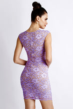 Load image into Gallery viewer, Jaz Purple Lace Cocktail Dress - Short Dress - BACCIO Couture