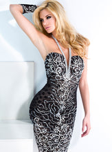 Load image into Gallery viewer, Jessy Black & White Short Cocktail Dress - BACCIO Couture