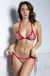 Kika Red Bikini and Top Set - BACCIO Couture