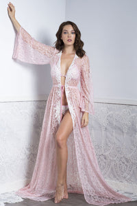 Kika Pink Long Cover Up Swimwear - Beachwear - BACCIO Couture