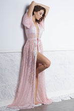 Load image into Gallery viewer, Kika Pink Long Cover Up Swimwear - Beachwear - BACCIO Couture