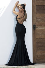 Load image into Gallery viewer, Luz Sequin Black Platinum Long Dress - Miami Gowns Design - BACCIO Couture