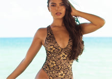 Load image into Gallery viewer, Lula One Piece Full Crystal Black-Gold