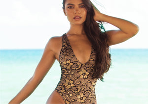 Lula One Piece Full Crystal Black-Gold