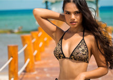 Load image into Gallery viewer, Linda Bikini Set Full Crystal Black-Gold