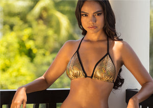 Linda Bikini Set Gold Metallic