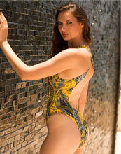 Load image into Gallery viewer, Lula One Piece Swimwear Yellow-Blue