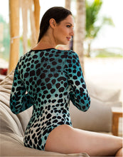 Load image into Gallery viewer, Belinda Body Aqua Leopard
