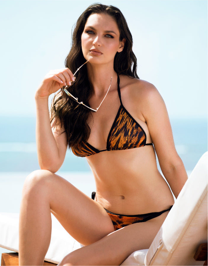 Linda Bikini Set Orange Leopard