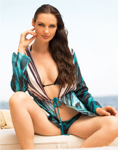 Load image into Gallery viewer, Lula Silk Cover Up Blue Teal