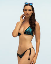 Load image into Gallery viewer, Linda Bikini Set Teal Leopard