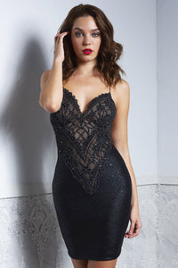 LIZ Black Cocktail Dress - Short Dress - BACCIO Couture