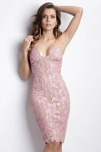 Maluz Rose Caviar Short Dress - Cocktail Dress - BACCIO Couture