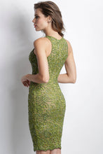 Load image into Gallery viewer, Alitze Painted Caviar Green Mosh Cocktail Dress. Short Party Prom Dress - BACCIO Couture