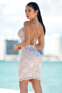Magda Blush Cocktail Dress - Short Dress - BACCIO Couture