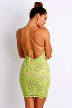 Load image into Gallery viewer, Magda Caviar Ligth Green Cocktail Dress - Short Dress - BACCIO Couture