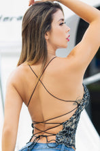 Load image into Gallery viewer, Magda Caviar Black Nude Caviar TOP - BACCIO Couture