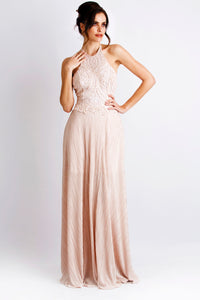 Marcella Paint Caviar Pink Gowns - Long Dress - BACCIO Couture