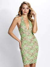 Load image into Gallery viewer, Gloria Mint Platinum Cocktail Dress - Short Dress - BACCIO Couture
