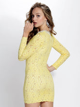 Load image into Gallery viewer, Hellen Yellow White Cocktail Dress - Short Dress - BACCIO Couture
