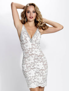 Zara White Short Dress - Cocktail Dress - BACCIO Couture