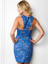 Load image into Gallery viewer, Milly Royal Short Dress - Cocktail Dress - BACCIO Couture