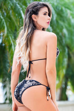 Load image into Gallery viewer, Paola Black Platinum Lace Bikini Swimwear - Beachwear - BACCIO Couture