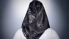 Load image into Gallery viewer, Silver Sequins Hoodie Head Cover Washable and Reusable - BACCIO Couture