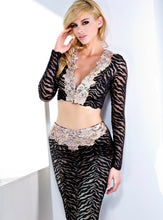 Load image into Gallery viewer, Sasha Painted Black Champagne Cocktail Dress Set - Gowns - BACCIO Couture