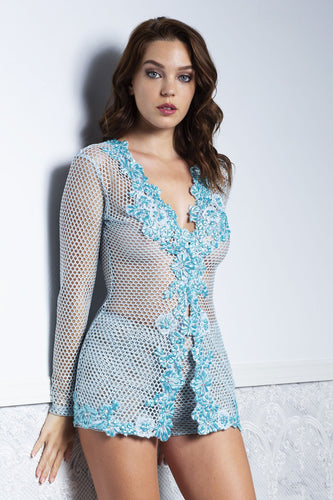 XIA Aqua Long Sleeves and Short Baccio Set - BACCIO Couture