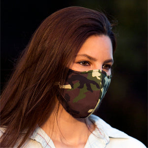 Face Mask Camouflage, washable face mask, reusable face masks, unisex face mask - BACCIO Couture