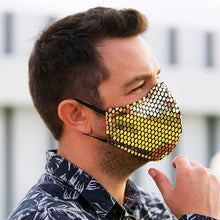 Load image into Gallery viewer, Face Mask Gold Sequins, washable face mask, reusable face masks, unisex face mask - BACCIO Couture